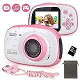 Unterwasser Kamera für Kinder DECOMEN Spielzeug und Geschenk für Kinder 12MP HD wasserdichte Digitalkamera /4X...