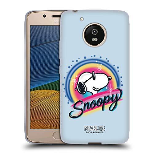 Head Case Designs Offizielle Peanuts Farbige Sonnenbrille Snoopy Plankenweg-Spritzpistole Soft Gel Huelle kompatibel mit Motorola Moto G5