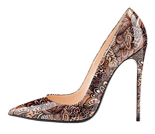 EDEFS - Scarpe col tacco donna - Scarpe donna tacco Alto - Stiletto - Multicolored Marrone