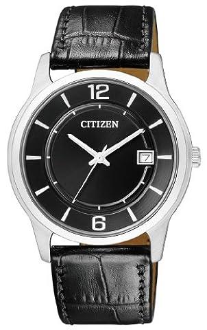 Citizen Herren-Armbanduhr XL Analog Quarz Leder BD0021-01E