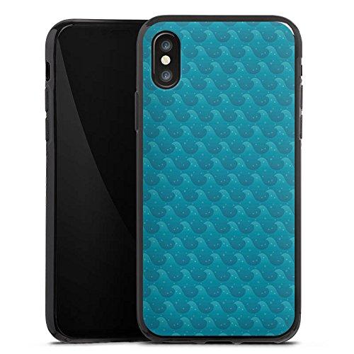 Apple iPhone X Silikon Hülle Case Schutzhülle Wellen Meer Urlaub Silikon Case schwarz