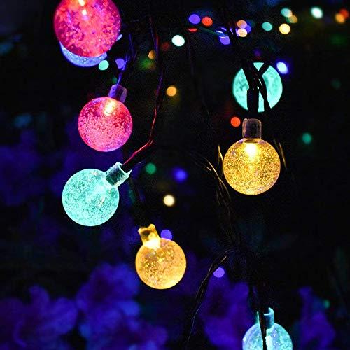 Sunnymi 3.5 m 20 LED Boule de Compartiment de batterie lumières extérieur étanche Blanc chaud Jardin Snowfall Arbre de Noël Décor de jardin, multicolore, 3.5mx20led light