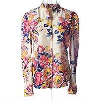 Spring Autumn Long Sleeve Shirt Women Chiffon Blouse
