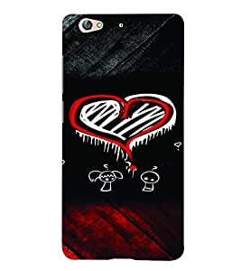 PrintVisa Romantic Love Hearts 3D Hard Polycarbonate Designer Back Case Cover for Gionee S6