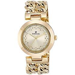 Daniel Klein Analog Gold Dial Women's Watch-DK10911-3