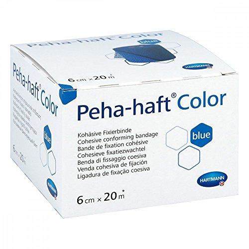 Hartmann 9324731, Peha-Haft Farbe Blau Kohesiver Elastischer anpassender Verband, 6 cm x 20 m