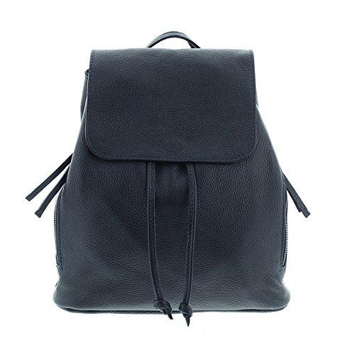 IO.IO.MIO Ital. Rucksack für Damen echt Leder Tagesrucksack Frauen erhältlich dunkelblau