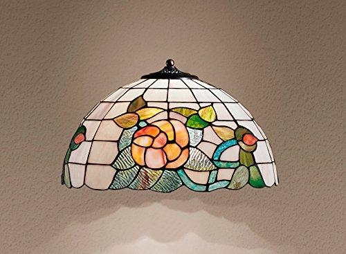 Lampenschirm Perenz Tiffany T726Kristallen 194mit Blumen Ø 40cm-Maßnahmen Ø 40cm-Lampenschirm Tiffany Typ Perenz T727