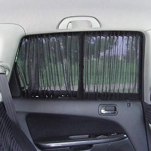2 Stück Autofenster Schirm Vorhang Sonnenschutz Auto Seitenfenster UV Schutz Auto Slidable Fenster Shield Block Auto Privatsphäre Gardinen Sonnenschutz Vorhang Fenster Shield - 70l (Fenster Klammern Auto Sonnenschutz)