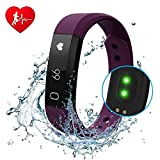 Fitness Tracker diwuer Smart Armband mit Herzfrequenz Monitor Touchscreen Armbanduhr Wasserdicht inklus. Schrittzähler Schlafüberwachung Kalorienzähler für iPhone Android Handy