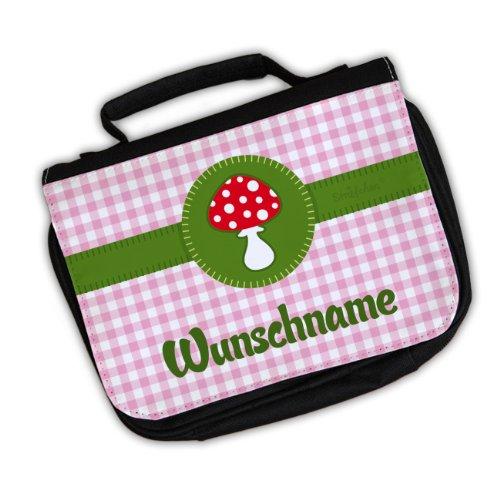 Striefchen® Kinder Waschtasche - Glückspilz - Wunschname