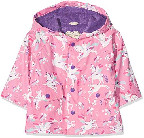 Hatley Baby-Mädchen Regenmantel Mini Printed Raincoats, Pink (Winged Unicorns), 92