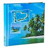 WELLGRO Jumbo Fotoalbum BEACHES - für bis zu 400 Fotos 10x15 - 30 x 30 cm (HxB) - 100 Seiten , Motive:Insel