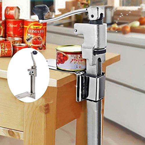Gototop apriscatole professionale manuale, apriscatole heavy duty can opener,apriscatole da banco, in acciaio inox, 47x 21cm