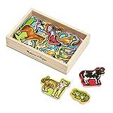 Melissa & Doug- 20 Animali di Legno Magnetizzati Giocattolo, Multicolore, 10475