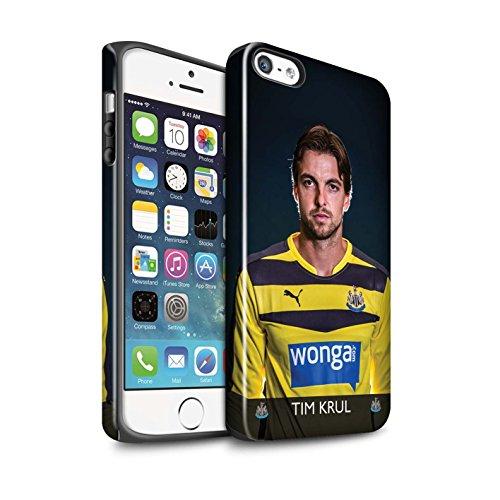 Offiziell Newcastle United FC Hülle / Glanz Harten Stoßfest Case für Apple iPhone SE / Pack 25pcs Muster / NUFC Fussballspieler 15/16 Kollektion Krul