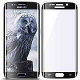 moex 3D Panzerfolie für Samsung Galaxy S6 Edge | Panzerglas Full Screen Glasfolie [Tempered Glass Curved] Protector Glas Displayschutz-Folie für Samsung Galaxy S6 Edge Schutzfolie, Schwarz