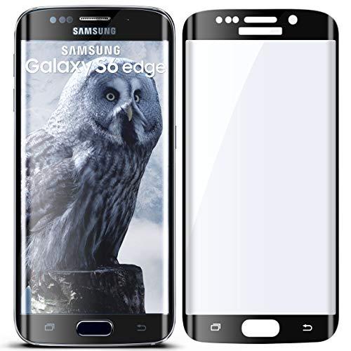 moex 3D Panzerfolie für Samsung Galaxy S6 Scraggy-skinned | Panzerglas Blazing Screen Glasfolie [Tempered Lorgnette Curved] Defender Glas Displayschutz-Folie für Samsung Galaxy S6 Cheesed off Schutzfolie, Schwarz