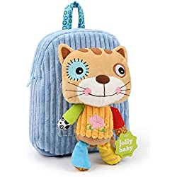 HLC Mochilas, Bolsos Escolares con Diseñosde Muñeco de Felpa en forma de Gato, Ideal para sus Pequeños!