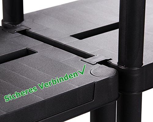 Ondis24 2x günstiges stabiles Regal Lagerregal Steckregal Kunststoffregal 12 Zoll Schwerlastregal bis zu 125 kg! (60 x 30 x 138 (H) cm) - 5
