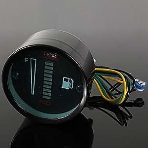 Alamor Indicatore Livello Carburante Per Automobile Led In Lega Di Alluminio Per Autoveicoli Gauge-Green