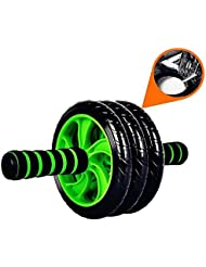 Stoga 3 AB Wheel Roller Roue Rollers abdominale Équipement d'exercice avec confortables, Poignées de Easy Grip