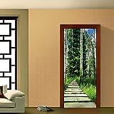 Moderner dekorativer Türaufkleber des Waldweges dekorative Malereiwohnzimmerschlafzimmer-Eingangsschmuck