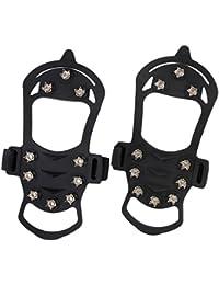 Phenovo Pair Of Women Girls Ladies Environment Friendly Hook Loop Fastener Closure Anti Slip Silicone Ice Crampons...