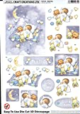 Craft Creations Die-Cut 3D Decoupage - DCD535 Baby Boy - A4 210x297mm - Step-By-Step Layout