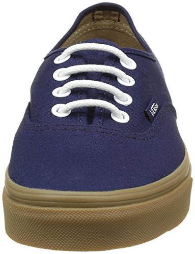 Vans Authentic, Sneakers Basses Mixte adulte Bleu ((Gumsole) eclipse/light gum)