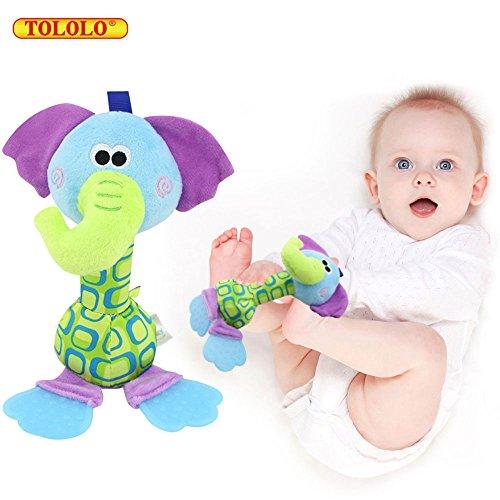Baby Spielzeug Kleinkind Stoffspielzeug Rasseln Süße Tiere Bells Beißringersatz Stroller Hanging Trainning ab 0 Monate (Esel Usa Hat)