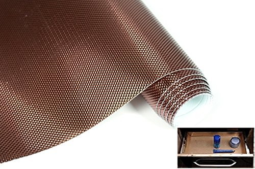 Multipurpose Textured Anti-Slip EVA Mat - for Fridge, Bathroom, Kitchen, Drawer, Shelf Liner, Size 45x125 cm(Brown Color)