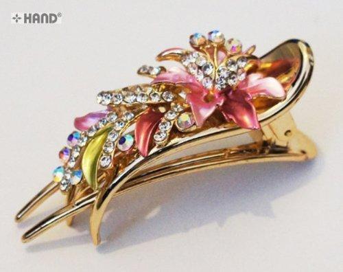 Hand® Nr. 055Elegant Beautiful Shiny Flower Design Hair Clips/Klammern–Kaufen 1Get 1halben Preis.