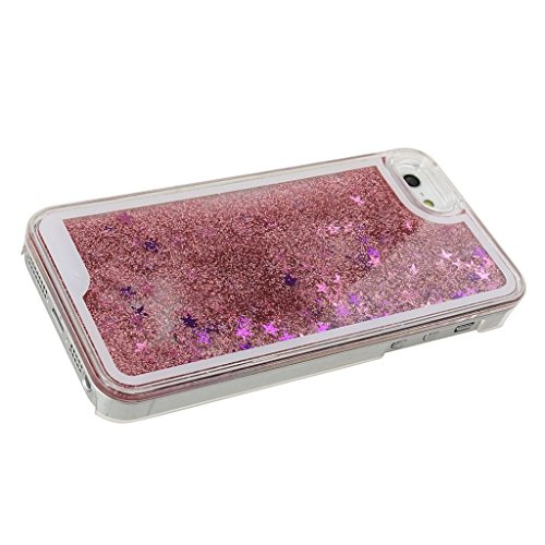 "Yaobai-2015 New Iphone 6 4.7"" Case Coque Housse Etui Transparent Clair Cristal dur plastique Cover šŠtui de protection Liquide se šŠcoulant Bling Glitter Sparkles pour Iphone 6 4.7"""