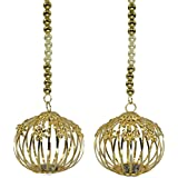 JERN Diwali Decorative Door Hanging Side Toran With LED Light (Golden Ball)