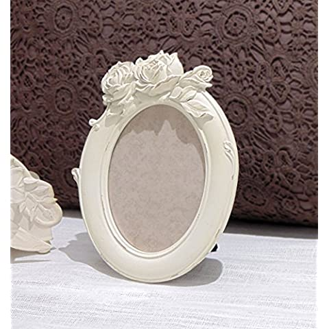 Cornice portafoto Ovale motivo floreale shabby chic