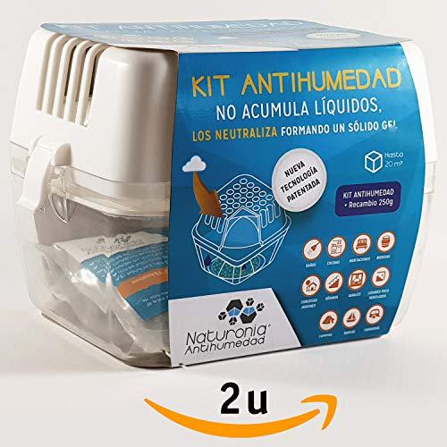 Dispositivo Antihumedad Bolsa 250gr SMART GEL para Armarios Habitación Cajones Ropa Evita Olor Humedades Antimoho - No Acumula Liquidos. ...