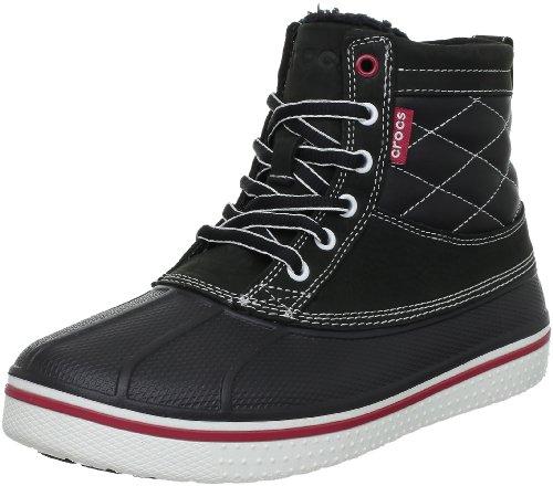 crocs AllCast Duck Boot 12586-066, Herren Chukka Boots, Schwarz (Black/White 066), 8 UK (Herren-duck-stiefel)