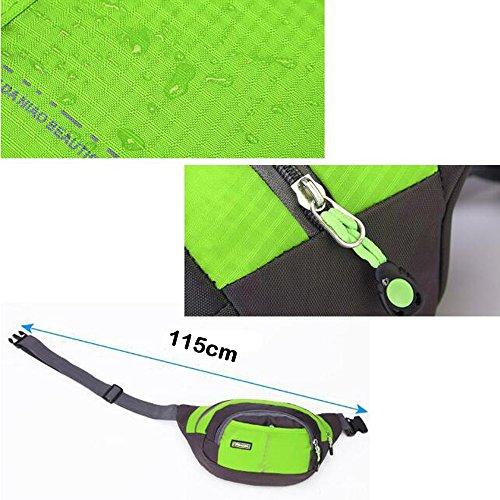 moyun Taille Taschen Wasserdichte Unisex-Running Gürtel Bum Camping Sport Wandern Zip Bag 8Farbe violett