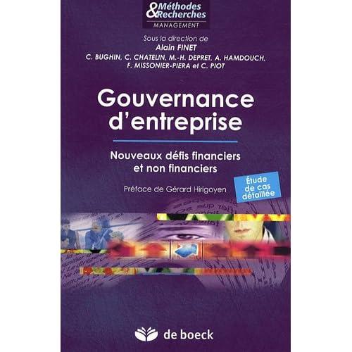 Gouvernance d'entreprise : Nouveaux défis financiers et non financiers