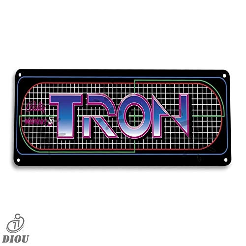 Tron Arcade Shop Game Room Art Marquee Console Tin Sign Metal Sign Metal Decor Wall Poster Wall Decor,Decor for Home Office Bar Pub Store Garage Coffee Shop Hotel Man Cave Club