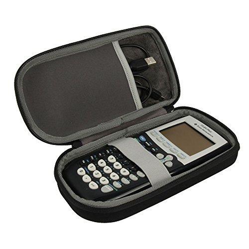 Hart Reise Schutz Hülle Etui Tasche für Texas Instruments Ti 84 Ti-83 Ti-85 Ti-89 Ti-82 Plus / C inkl. USB-Link Taschenrechner von - Ti 84 Silver Plus C
