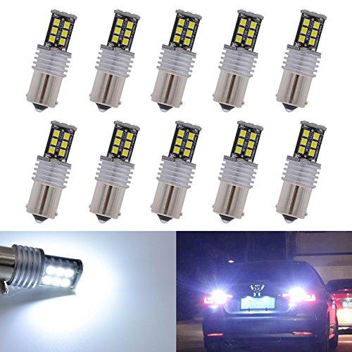 katur 2pcs ad alta potenza 800lumen super luminoso 1156P21W BA15s 11417506LED Canbus senza errori 15SMD 2835Backup Reverse, luci freno di coda Parcheggio lampadine LED DC 12V Bianco - Bmw Coda Lampadina