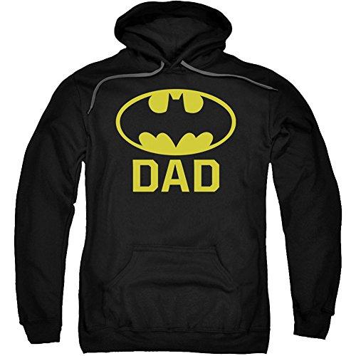 Trevco Batman Fledermaus Dad Kapuzen Sweatshirt Schwarz Erwachsene Damen Herren Short Sleeve Hooded Sweatshirt, Herren, schwarz, XX-Large