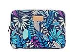AreTop Housse Sacoche pour iPad Tablet Ordinateur Portable 10 pouces (27 * 21 * 1.5 cm, Bleu Coleus)