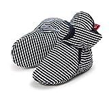Lacofia Scarpe antiscivolo con suola morbida per neonato o per bambina stivali da bambino d'inverno nero 3-6 mesi