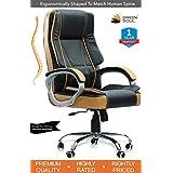 Green Soul Vienna Big & Tall Premium Finish Executive Office Chair (Black & Tan) (+3 Colors)