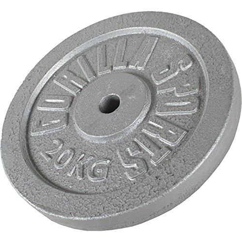 Gorilla Sports Hantelscheiben Gusseisen 20 kg, One size, 10000538-431