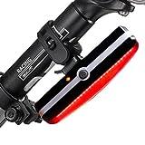 Eximtrade USB Wiederaufladbare Fahrrad 6 Modi Rücklicht Taschenlampe LED Lampe Warnlicht Wasserdicht (Rot)