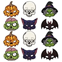 FaCraft Halloween Mask Craft Kit for Kids,12pcs Monster Masks for Kids,Halloween Party Favors,Dress-Up Party Supplies for Halloween Costumes, Fancy Dress, Parties
